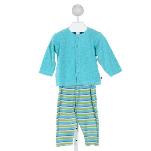 ZUTANO  BLUE  STRIPED  2-PIECE OUTFIT