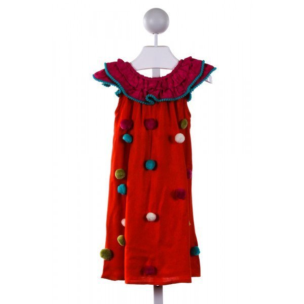 MASALA KIDS  MULTI-COLOR    DRESS WITH RUFFLE