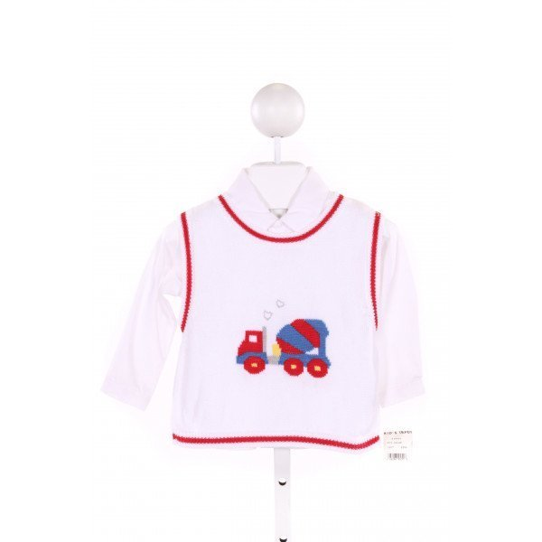 PETIT AMI  MULTI-COLOR   PRINTED DESIGN SWEATER VEST