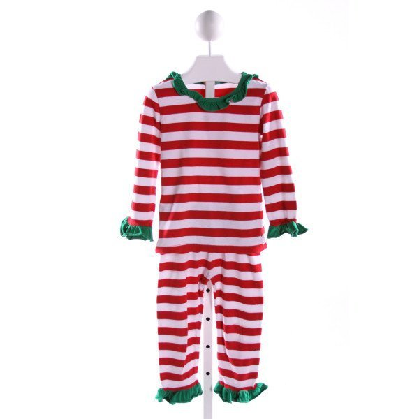 STITCHY FISH  MULTI-COLOR  STRIPED  2-PIECE OUTFIT WITH RUFFLE