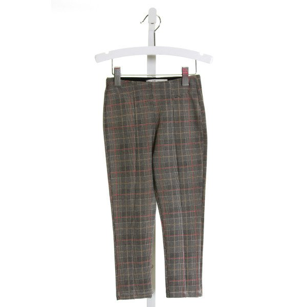 ZARA  BROWN  PLAID  PANTS