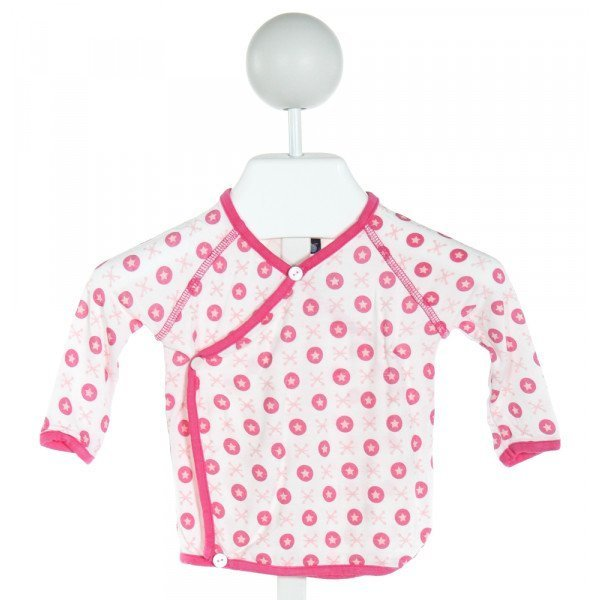 KICKEE PANTS  PINK   PRINTED DESIGN KNIT LS SHIRT