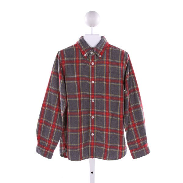 E-LAND  MULTI-COLOR  PLAID  CLOTH LS SHIRT