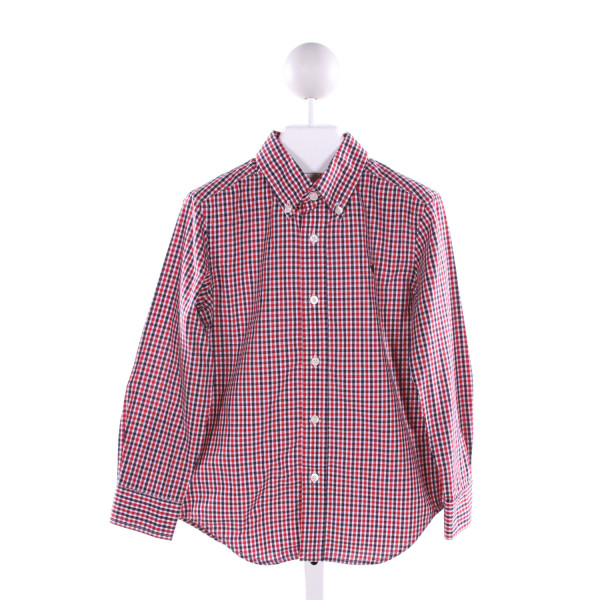 SOUTHERN MARSH  MULTI-COLOR  GINGHAM  CLOTH LS SHIRT