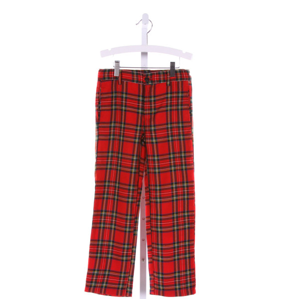 E-LAND  MULTI-COLOR  PLAID  PANTS