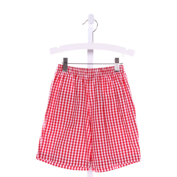 BELLA BLISS  RED  GINGHAM  SHORTS