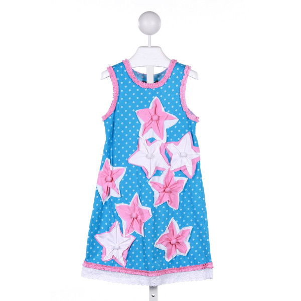 JELLY THE PUG  BLUE  POLKA DOT  KNIT DRESS