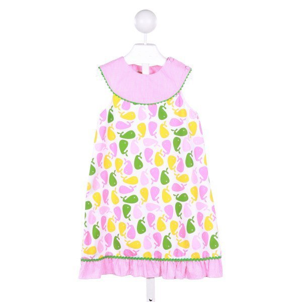 CUKEES  PINK    CASUAL DRESS WITH RIC RAC