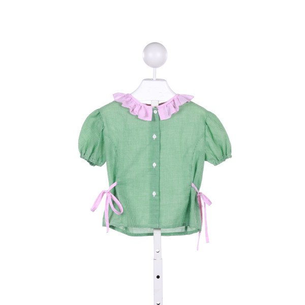 THE PLANTATION SHOP  GREEN  GINGHAM  CLOTH SS SHIRT