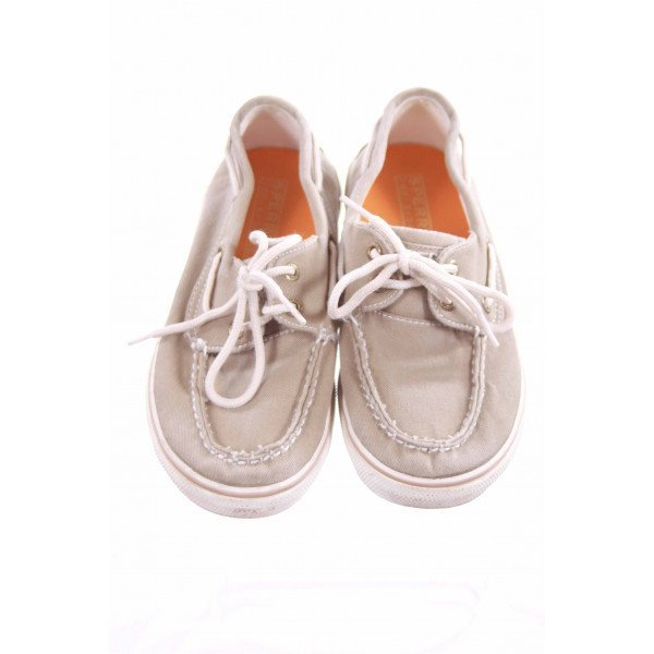 SPERRY TAUPE TOP SIDERS CHILD SIZE 2 *EUC