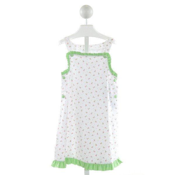 REMEMBER NGUYEN  WHITE  FLORAL  DRESS WITH RUFFLE