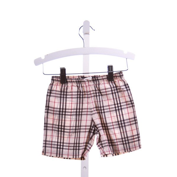 BURBERRY  BROWN  PLAID  SHORTS