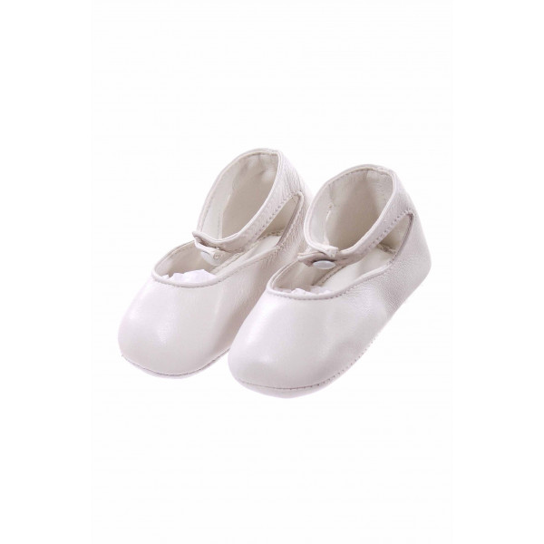 RUDEN NEEDLECRAFT WHITE INFANT SHOES *SIZE 3