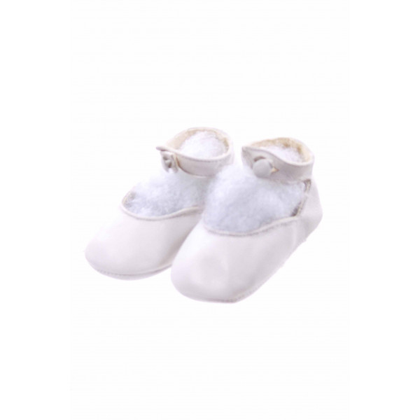 RUDEN NEEDLECRAFT WHITE INFANT SHOES *SIZE NEWBORN