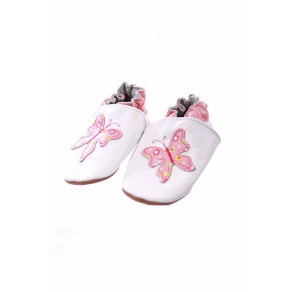 ROBEEZ BROWN WITH BUTTERFLY SHOES *SIZE 6-12M