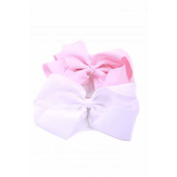 NO TAG HAIR BOWS *NWOT - INCLUDES SET OF 2 X-LARGE BOWS