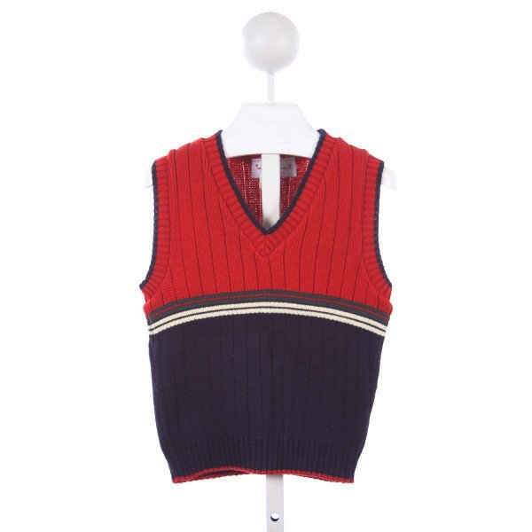 WWP ORIGINALS RED AND NAVY SWEATER VEST