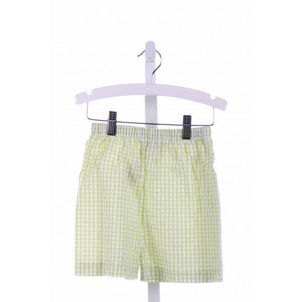ONCE UPON A TIME  GREEN  GINGHAM  SHORTS
