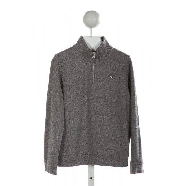 VINEYARD VINES  GRAY    QUARTER ZIP PULLOVER