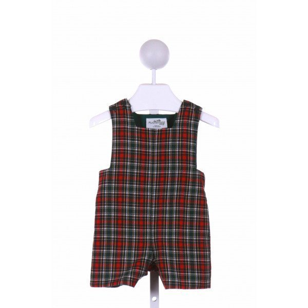 THE PLANTATION SHOP  GREEN  PLAID  JOHN JOHN/ SHORTALL