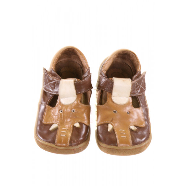 LIVIE AND LUCA BROWN SHOES *APPROX 9, GUC - WEAR AND SCUFFING