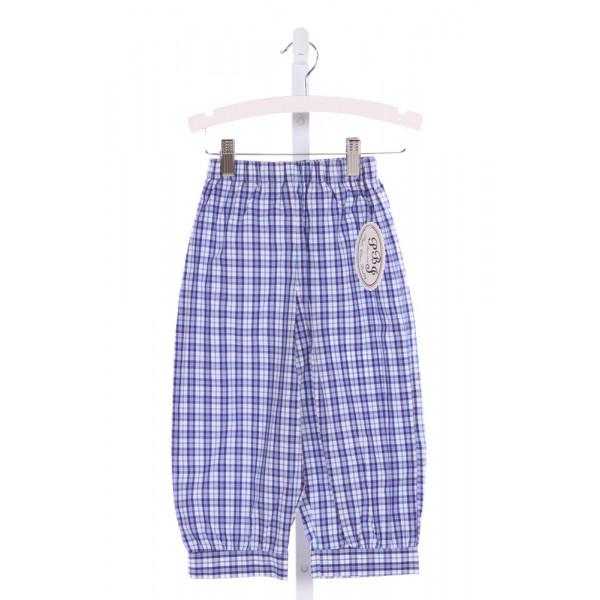 PBJ  BLUE  PLAID  PANTS