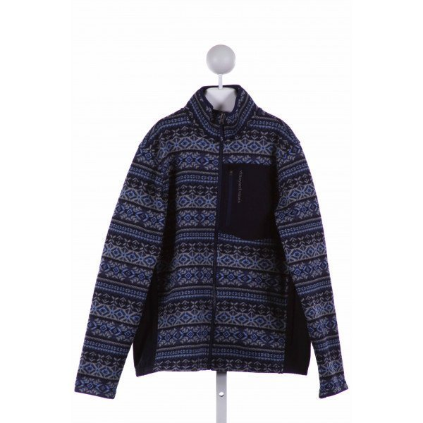 VINEYARD VINES  NAVY   PRINTED DESIGN WINTER COAT