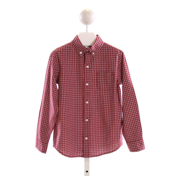 JANIE AND JACK  MULTI-COLOR  GINGHAM  CLOTH LS SHIRT