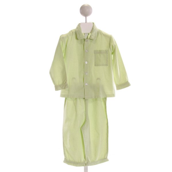 KATE & LIBBY  LT GREEN  MICROCHECK  2-PIECE OUTFIT