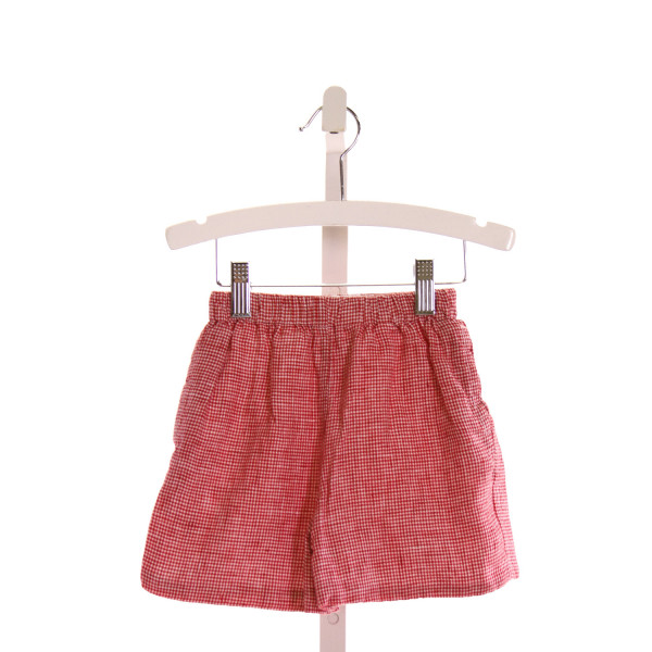 KATE & LIBBY  RED  HOUNDSTOOTH  SHORTS