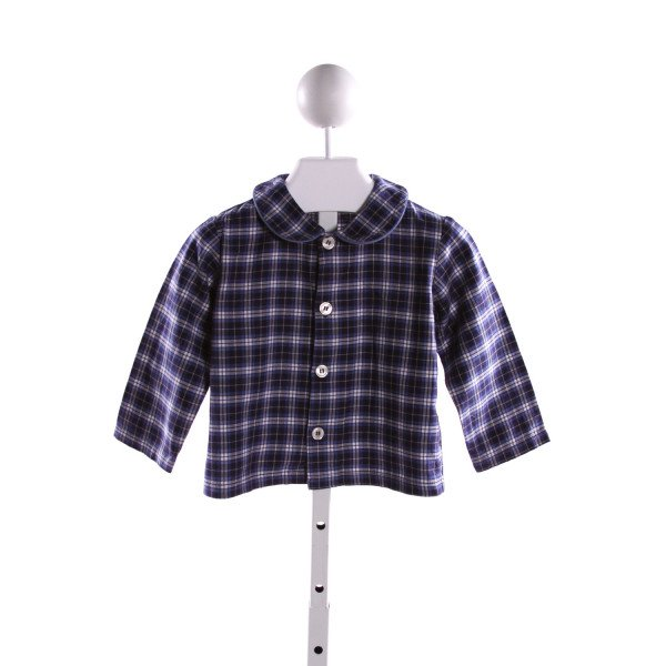 KAYCE HUGHES  BLUE  PLAID  CLOTH LS SHIRT