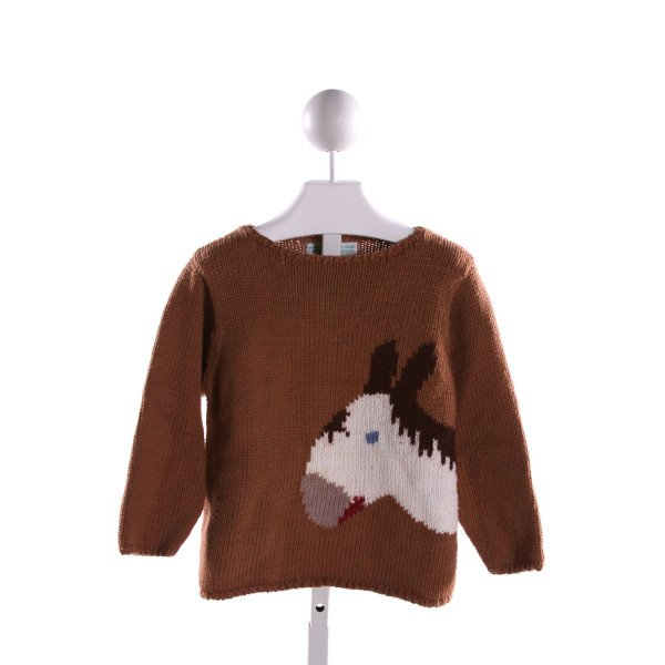 THE PLANTATION SHOP  MULTI-COLOR   PRINTED DESIGN SWEATER