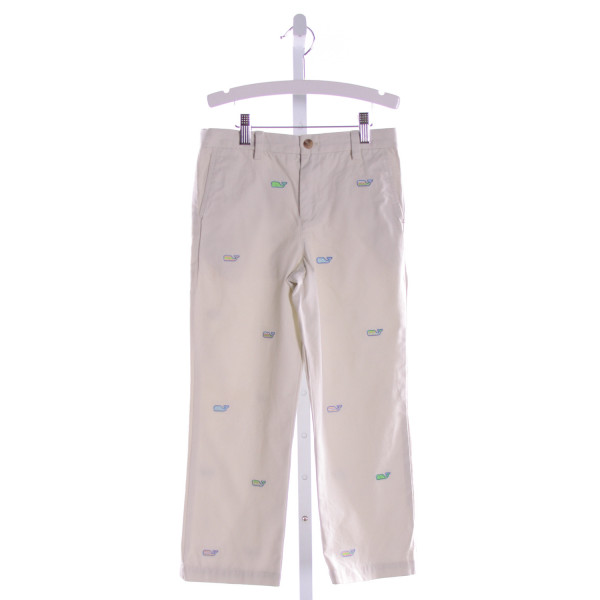 VINEYARD VINES  KHAKI   EMBROIDERED PANTS