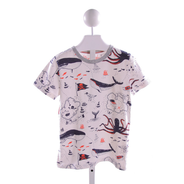 MINI BODEN  MULTI-COLOR KNIT  PRINTED DESIGN T-SHIRT