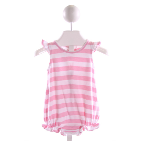 ZUCCINI  LT PINK  STRIPED  BUBBLE WITH RUFFLE