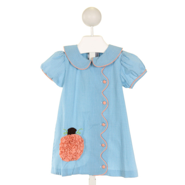 CASTLES & CROWNS  BLUE  GINGHAM APPLIQUED DRESS