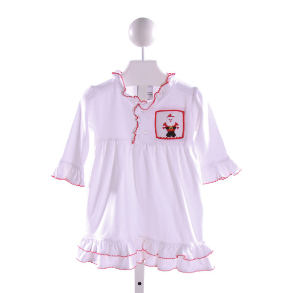 CASTLES & CROWNS  MULTI-COLOR   SMOCKED KNIT DRESS WITH PICOT STITCHING