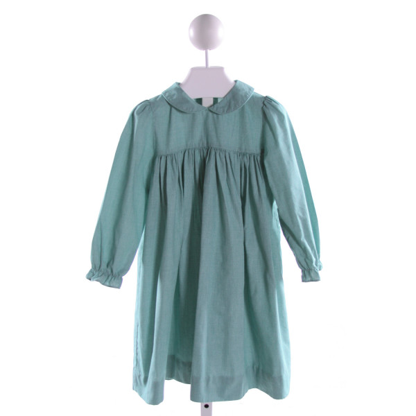 PRECIOUS ONE  GREEN  MICROCHECK  DRESS WITH RUFFLE