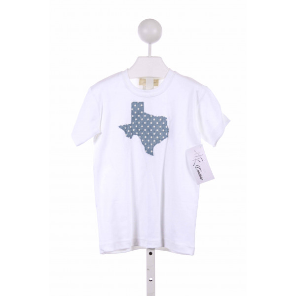 HANNAH KATE  WHITE   APPLIQUED KNIT SS SHIRT