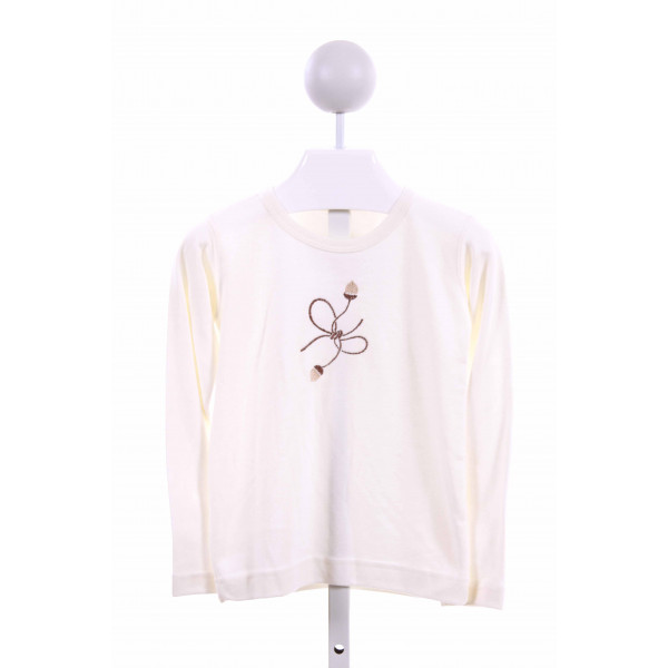 HANNAH KATE  CREAM    KNIT LS SHIRT