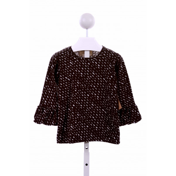 HANNAH KATE  BLACK  PRINT  KNIT LS SHIRT
