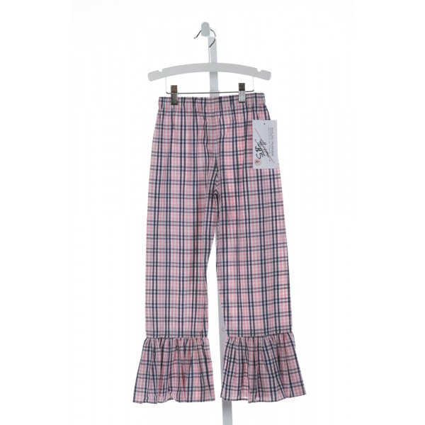 HANNAH KATE  PINK  PLAID  PANTS WITH RUFFLE