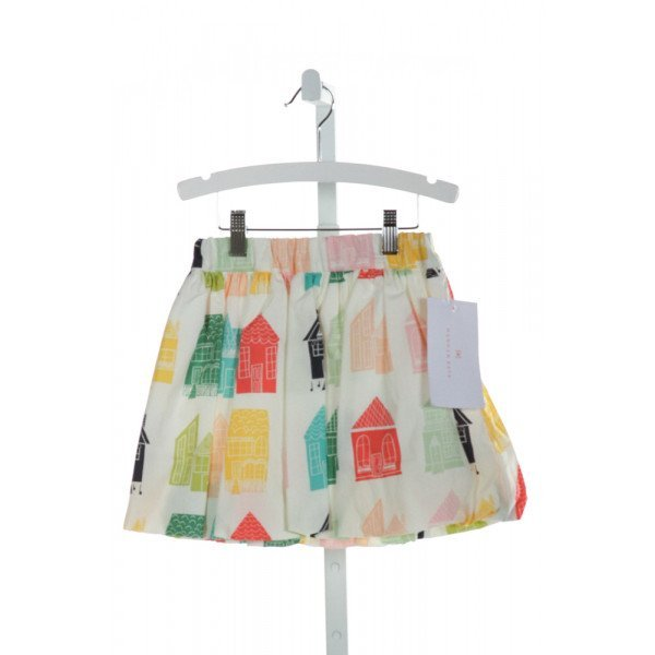 HANNAH KATE  IVORY   PRINTED DESIGN SKIRT