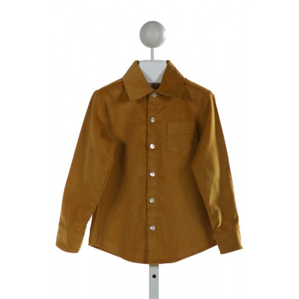 HANNAH KATE  BROWN CORDUROY   CLOTH LS SHIRT