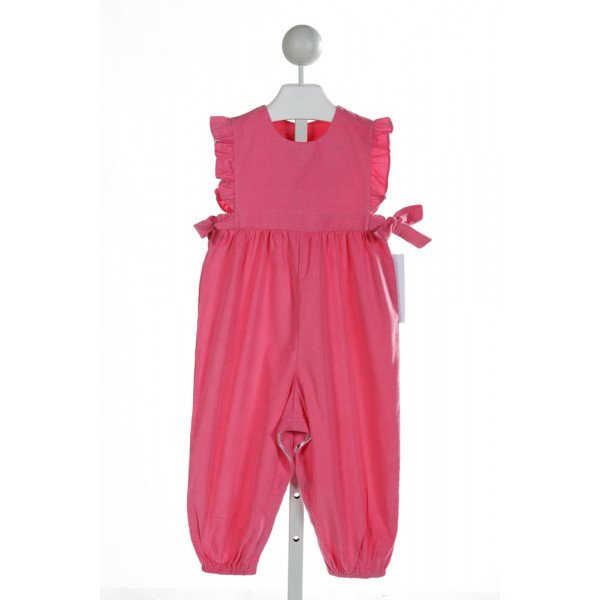 HANNAH KATE  HOT PINK CORDUROY   ROMPER WITH RUFFLE