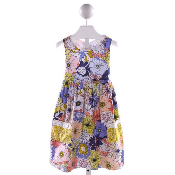 PEACHES 'N CREAM  MULTI-COLOR  FLORAL  DRESS