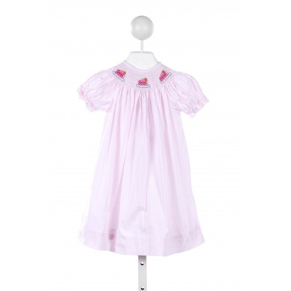 COLLECTION BEBE PINK DRESS WITH CUPCAKE SMOCKING
