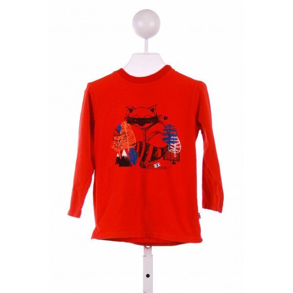 DEUX PAR DEUX  RED   PRINTED DESIGN KNIT LS SHIRT