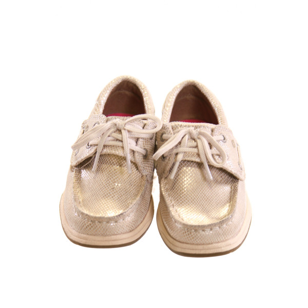 SPERRY METALLIC GOLD SHOES *SIZE 9, VGU - A COUPLE TINY DISCOLORED SPOTS