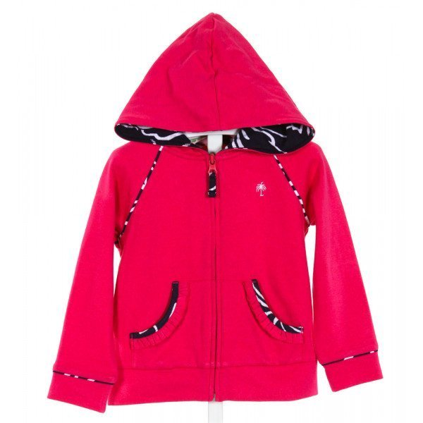 LILLY PULITZER  HOT PINK    OUTERWEAR WITH RUFFLE